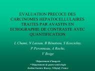 evaluation precoce des carcinomes hepatocellulaires traites par ...