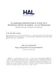 Le marketing relationnel dans le secteur de la distribution sélective ...