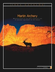 2 0 0 4 C A T A L O G - Martin Archery