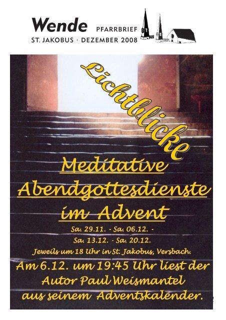 Advent und Weihnachten - St. Jakobus Versbach
