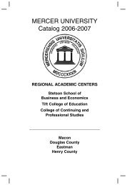 2006-2007 Regional Centers Catalog - Mercer University