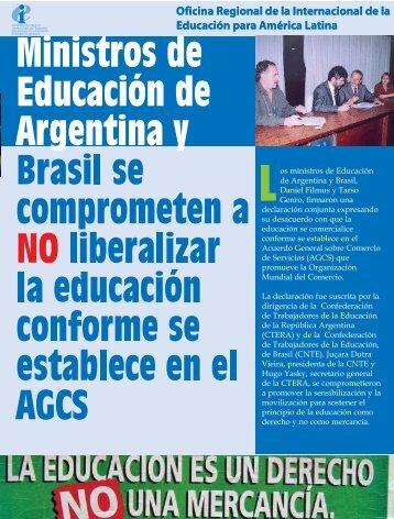 os ministros de Educación de Argentina y Brasil, Daniel Filmus y ...