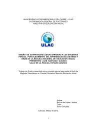 1 universidad latinoamericana y del caribe – ulac coordinación ...
