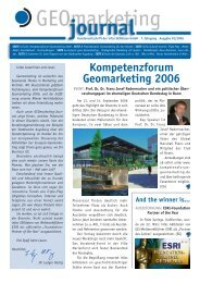 Kompetenzforum Geomarketing 2006 - infas GEOdaten