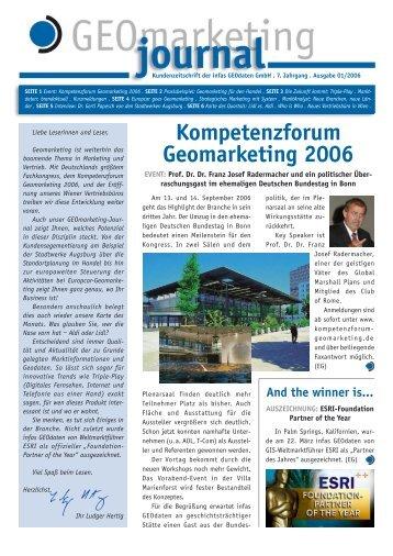 Kompetenzforum Geomarketing 2006 - infas GEOdaten