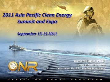 2011 Asia Pacific Clean Energy Summit and Expo