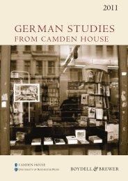 German Studies Catalogue 2011 - Camden-House