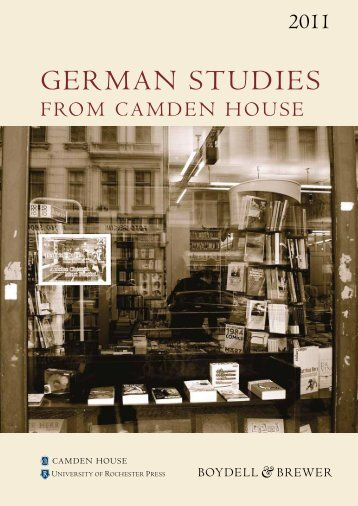 German Studies Catalogue 2011 - Camden-House
