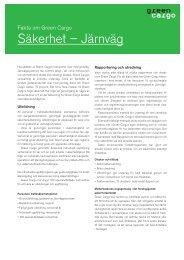 Säkerhet – Järnväg - Green Cargo