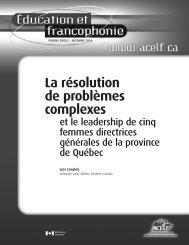 LANGLOIS, Lyse. « La résolution de problèmes complexes et ... - acelf