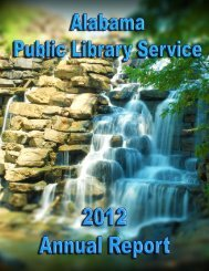 2012 Annual Report - Alabama Public Library Service