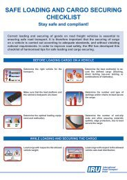safe loading and cargo securing checklist - iru - UNECE