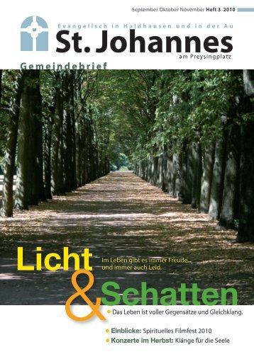 St. Johannes Licht &Schatten