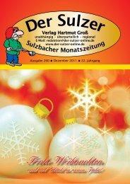 Wir wünschen allen ein frohes Weihnachtsfest und ein ... - Der Sulzer