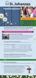 März bis August Familienplaner - St.Johannes