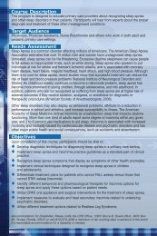 15003 Sleep Apnea brochure - USF Health Continuing Professional ...