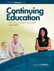 Continuing Education - Collège Boréal
