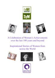 A Celebration of Women's Achievements over the last 100 years and ...