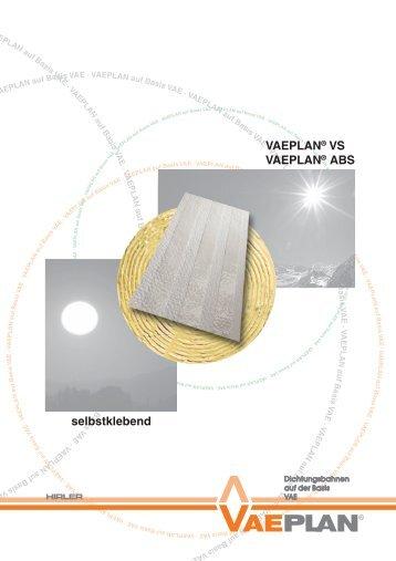 selbstklebend VAEPLAN® VS VAEPLAN® ABS