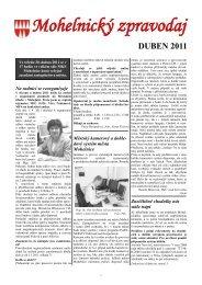Mohelnický zpravodaj duben 2011 - Mohelnické kulturní centrum