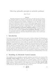 Observing optimality principles in metabolic pathways