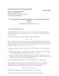 14. ¨Ubungsblatt Many-body physics with ultra-cold atomic gases