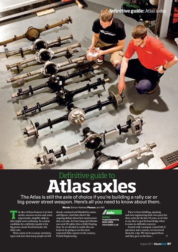 Atlas axles - Classic Ford