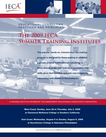 2009 Summer Training Institute brochure and application