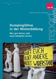 Dumpinglöhne in der Weiterbildung - ver.di: Bildung, Wissenschaft ...