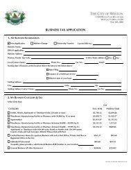 Business Tax Receipt Application and Fees - City of Weston