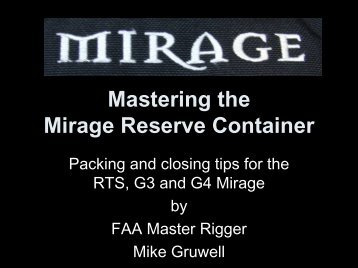 Mastering the Mirage Reserve Container