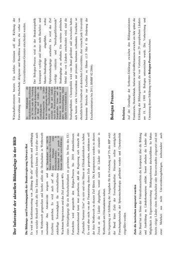 Bildungspolitische Entwicklung - Reader - BuFaTa Chemie