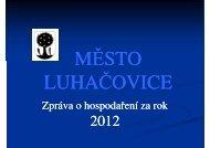 Závěrečný účet za rok 2012