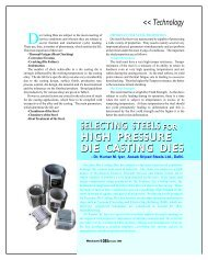 selecting steels high pressure for die casting dies - Metalworld.co.in