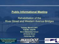 Public Information Meeting for the River Street Bridge ... - Eot State Ma