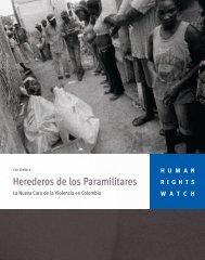 Herederos de los Paramilitares - Human Rights Watch