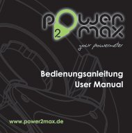 Bedienungsanleitung User Manual - marco-bike