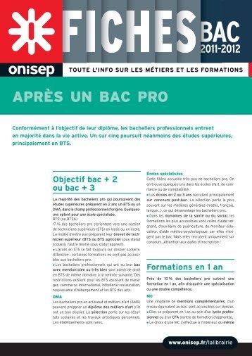 APRÈS UN BAC PRO - Orientation