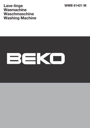 Lave-linge Wasmachine Waschmaschine Washing ... - Beko-home.at