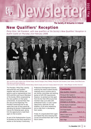 Newsletter May 2008.pdf - Society of Actuaries in Ireland