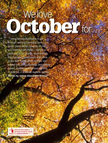 October - James Alexander-Sinclair