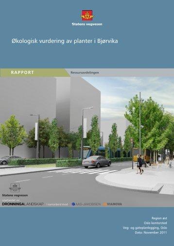 Økologisk vurdering av planter i Bjørvika - Statens vegvesen