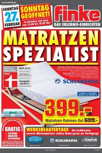 Matratzen-Set 399. - Finke