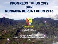 Progres Report Bagian Perekonomian Tahun 2012 - Pemerintah ...