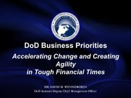72. DoD Business Priorities – Accelerating Change and ... - PDI 2012