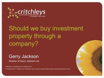 Gerry Jackson - Critchleys