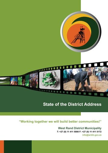 state of the district address 2006 – 2011 - West Rand District ...