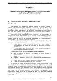 Capitolo 6 Valutazione ex-ante: la costruzione di indicatori e analisi ...