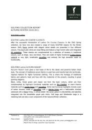 GOLFINO COLLECTION REPORT AUTUMN/WINTER 2010/2011