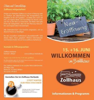 15. +16. JUNI Informationen & Programm - Zollhaus Herbede